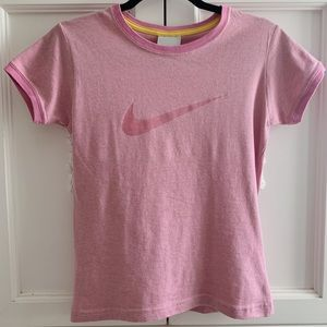 Pink Nike Vintage Graphic Short Sleeve Soft Tee S